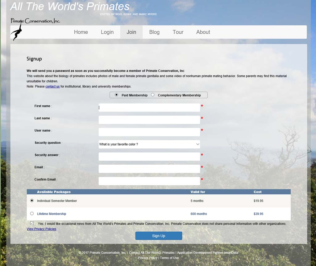 Register All The World's Primate