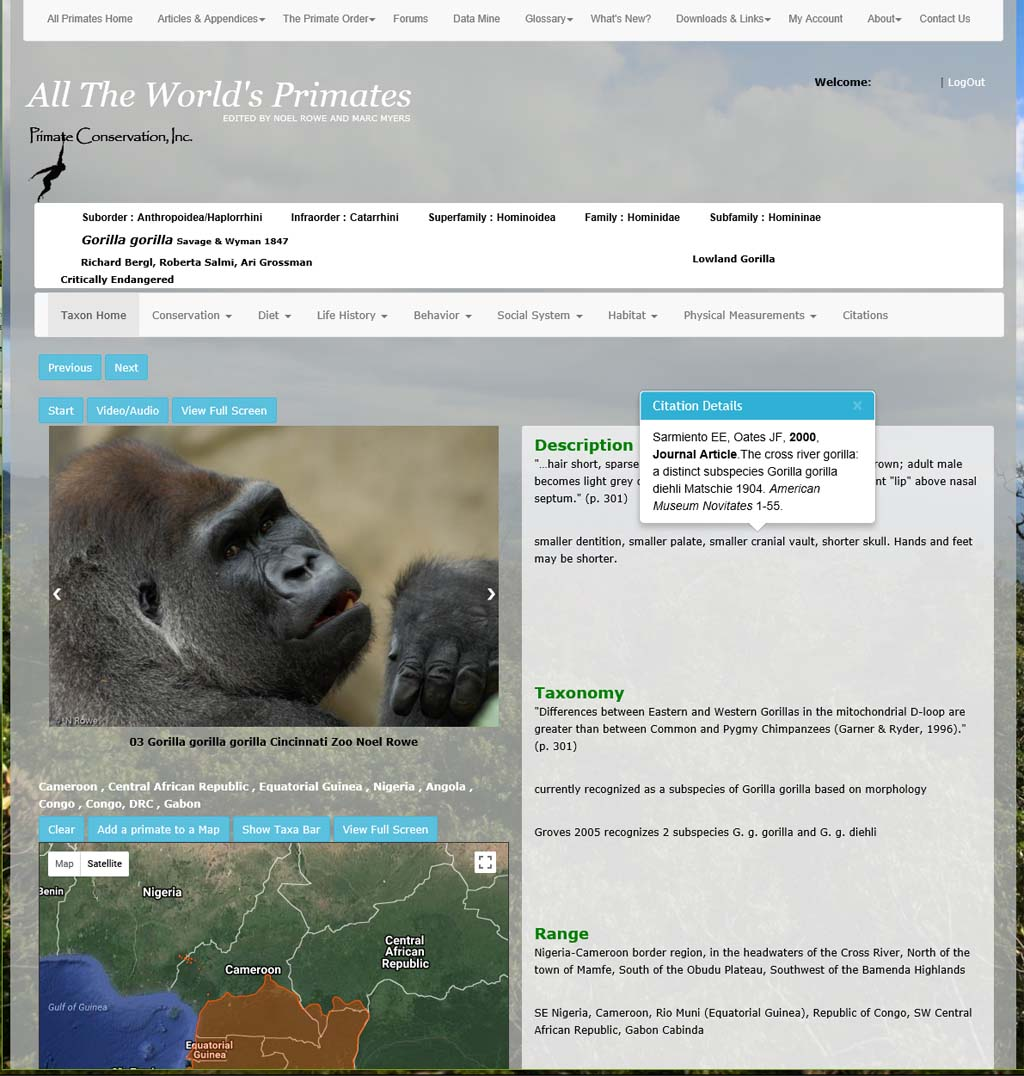 Searching Specific Information about a Primate